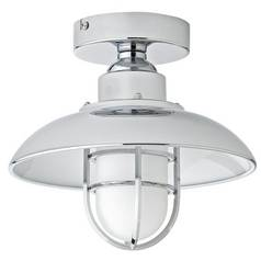 argos home kildare fisherman lantern bathroom light nickle - Bathroom Ceiling Lights