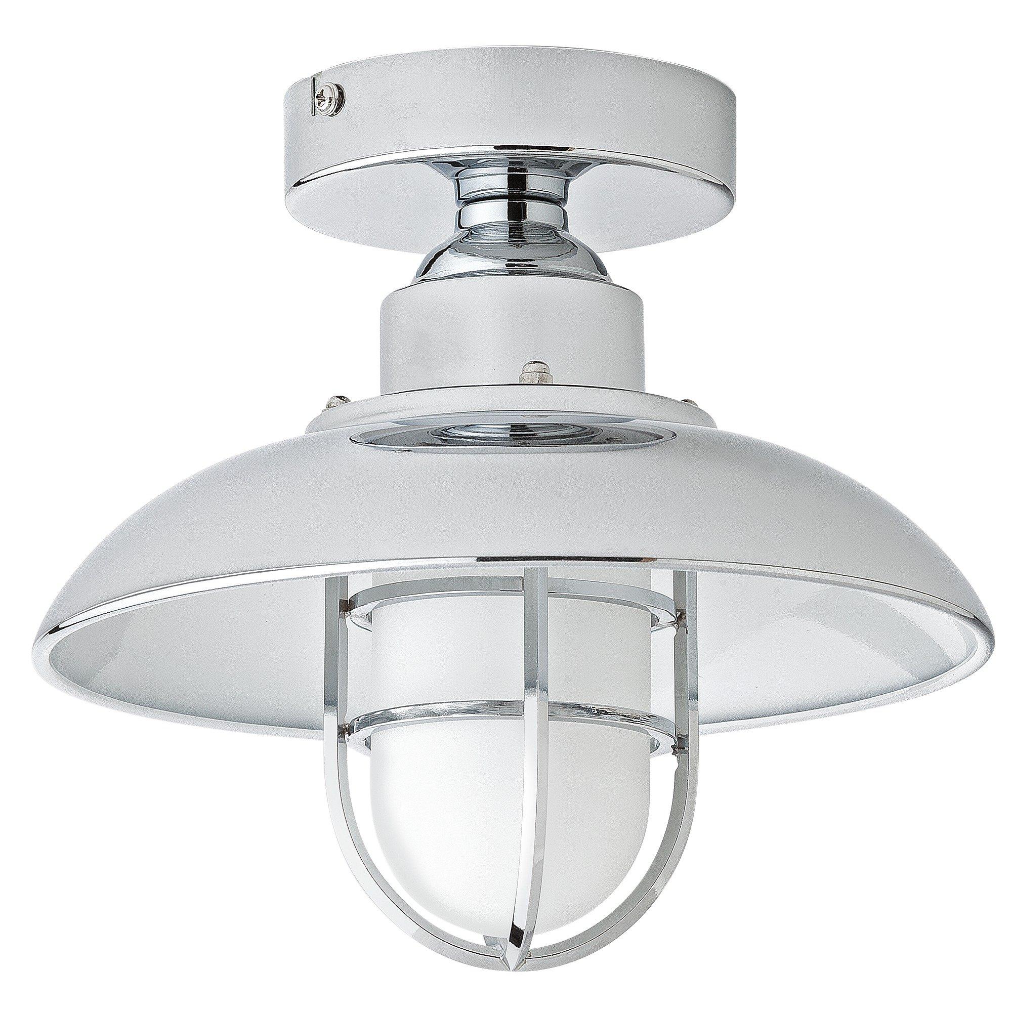 Argos Home Kildare Fisherman Lantern Bathroom Light   Nickle