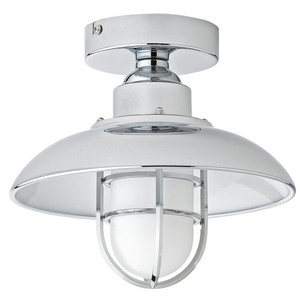 Switched Chandelier Wall Lights : Buy Collection Kildare Fisherman Lantern Bathroom Light - Nickle at Argos.co.uk - Your Online ...