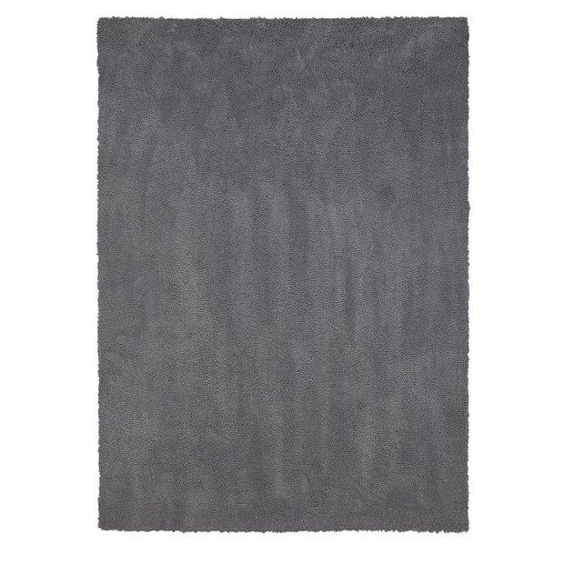 Buy Argos Home Snuggle Shaggy Rug 160x230cm Flint Grey
