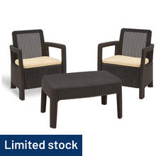 Keter Tarifa 2 Seater Rattan Effect Balcony Set