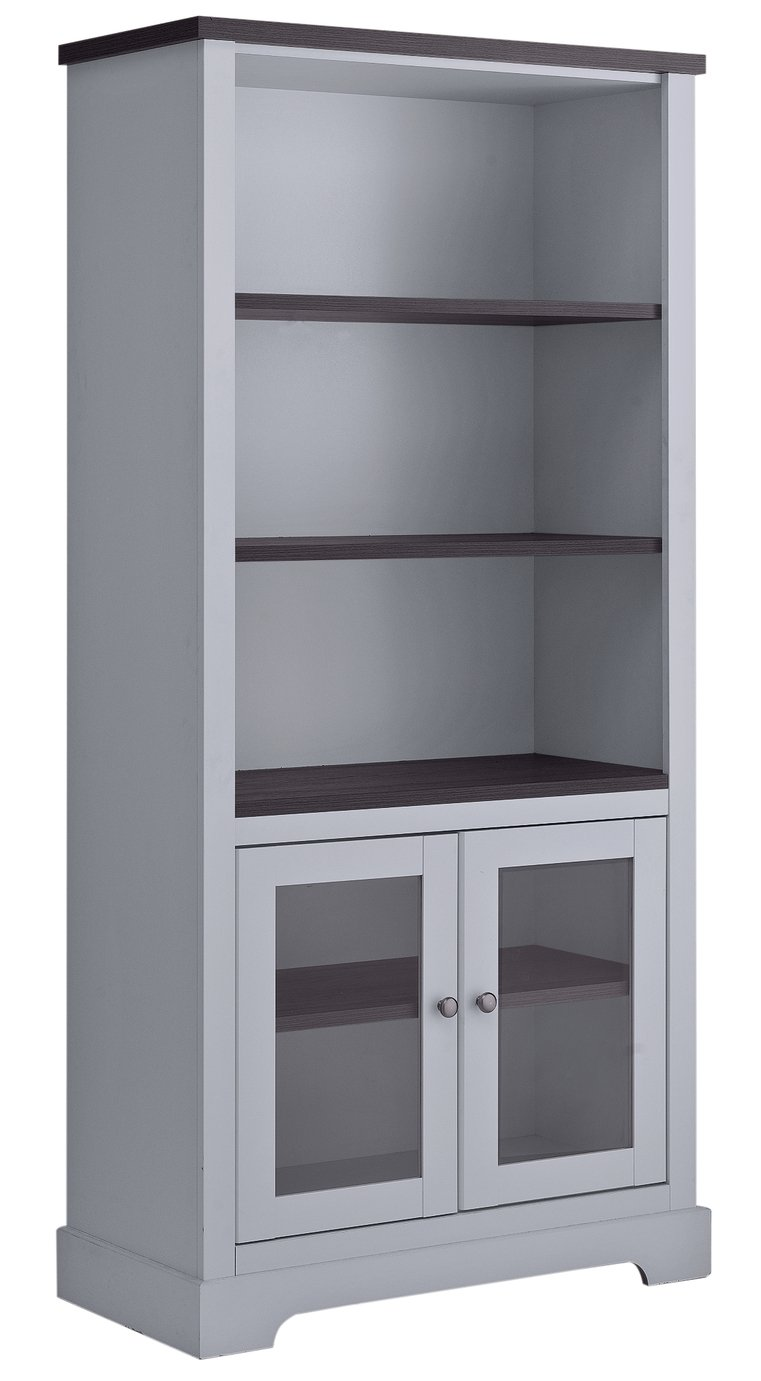 ... more details on Heart of House Westbury Glazed Bookcase - Grey.
