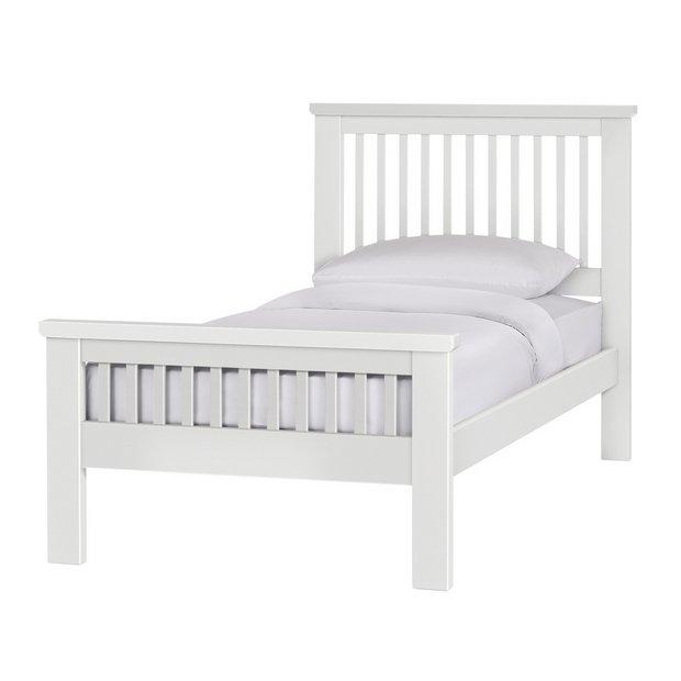 buy collection aubrey single bed frame white bed. Black Bedroom Furniture Sets. Home Design Ideas