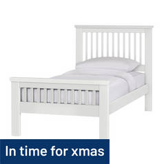 Argos Home Aubrey Single Bed Frame - White