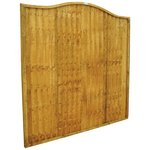 more details on Forest 1.8m Closeboard Wave Fence Panel - Pack of 3.
