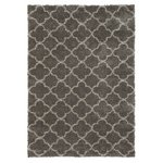 more details on Collection Noble Trellis Shaggy Rug - 120x160cm - Grey.