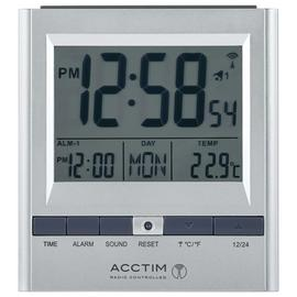 Acctim 71717x Chula RC Digital LCD Alarm Clock in Silver Best Price and Cheapest