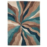 Collection Starburst Hand Tufted Rug - Teal