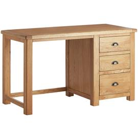 Argos Home Kent 3 Drawer Office Desk - Oak & Oak Veneer