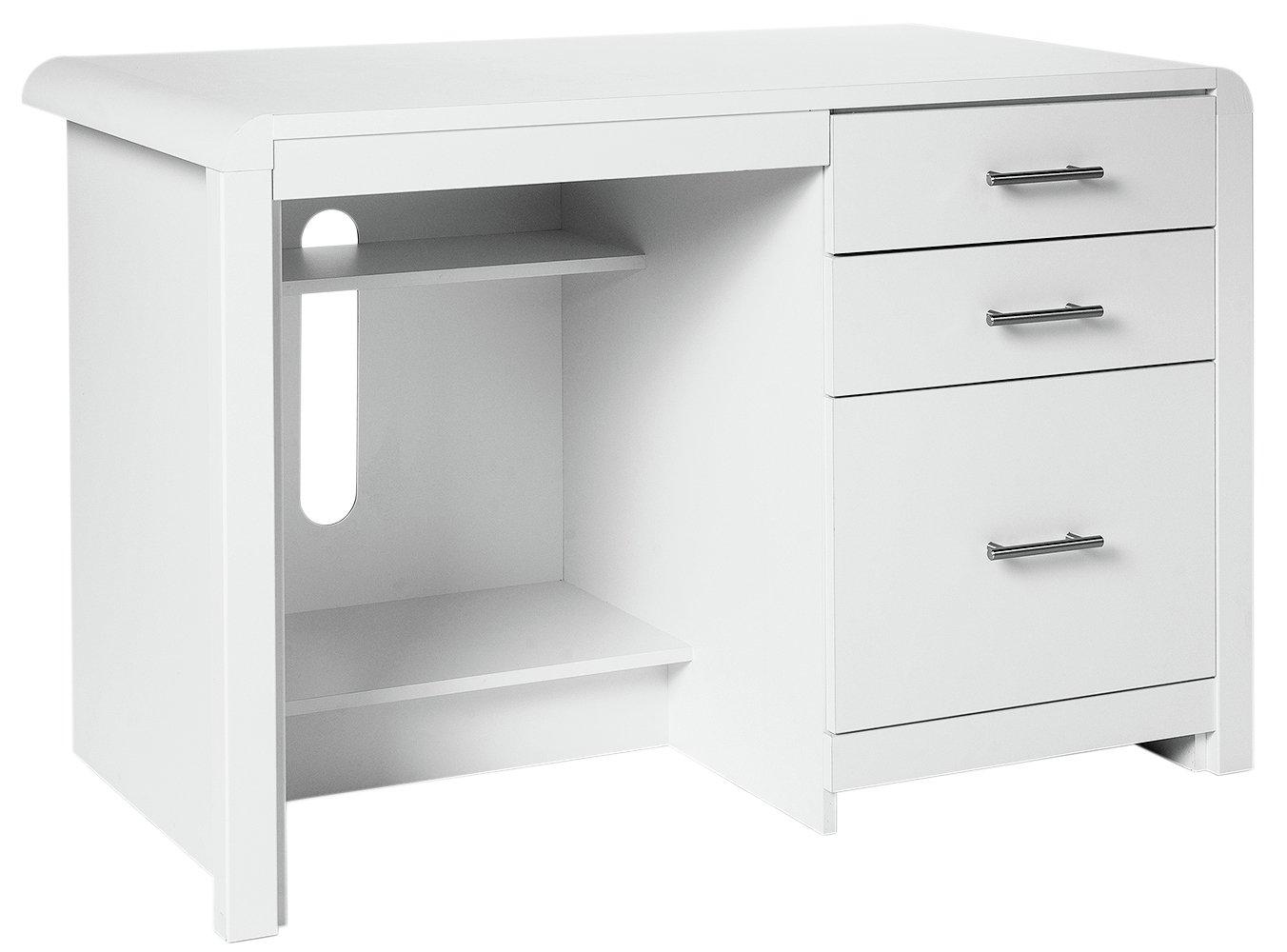 more details on heart of house elford office desk white - White Desk