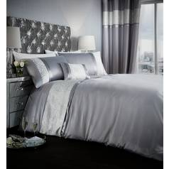 Catherine Lansfield Luxor Silver Bedding Set - Superking