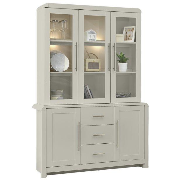 buy heart of house elford 5 door 3 drawer display cabinet. Black Bedroom Furniture Sets. Home Design Ideas