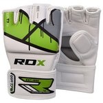 more details on RDX Leather X  Green Grappling Gloves - Medium/Large