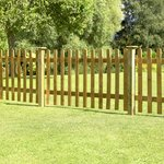 more details on Forest 0.9m Larchlap Pale Fence Panel - Pack of 7.