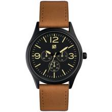 Spirit Men's Tan Strap Multi Dial Watch