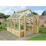 more details on Forest Wooden Vale Greenhouse 10 x 8ft Includes Installation