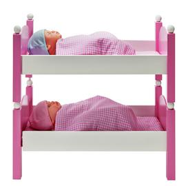 Chad Valley Babies to Love Wooden Doll's Bunkbed Set