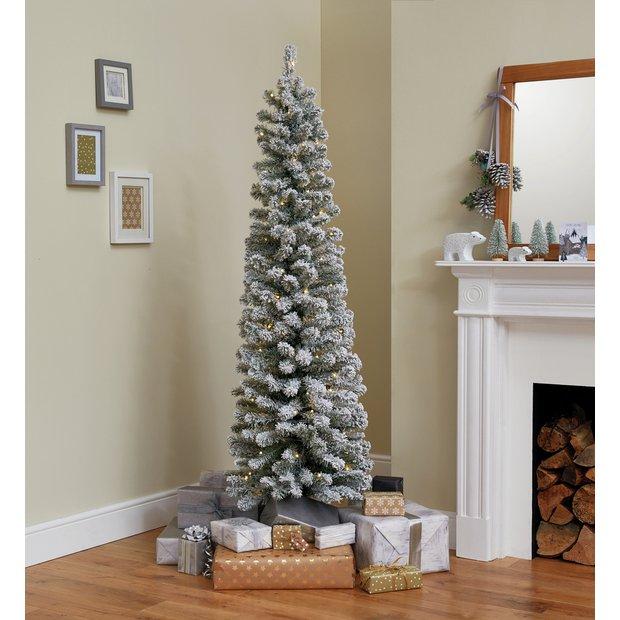 Buy Argos Home 6ft Pre Lit Snow Tipped Christmas Tree Green Artificial Christmas Trees Argos