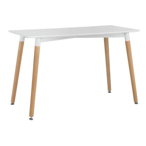 Buy Hygena Charlie 120cm Dining Table Solid Beech White