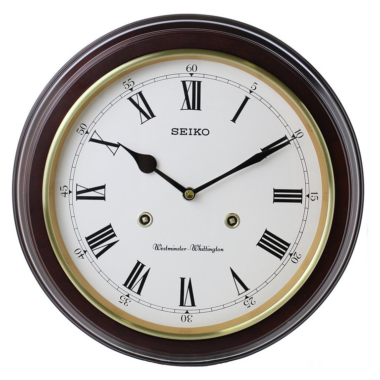 Buy Seiko Wooden Round Dual Chime Wall Clock at Argos.co ...