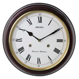 Seiko Wooden Round Dual Chime Wall Clock.