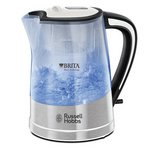 more details on Russell Hobbs Purity Brita Filter Clear Plastic Kettle 22851