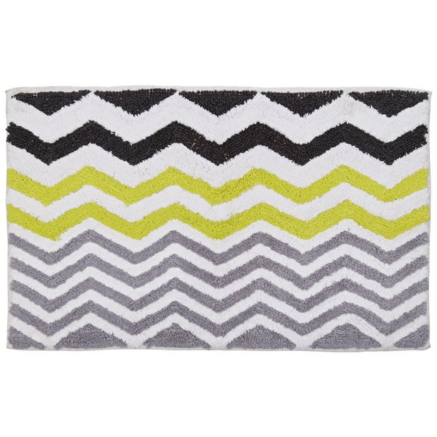 buy home chevron bath mat at your online. Black Bedroom Furniture Sets. Home Design Ideas