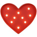 more details on HOME Heart Light - Red.