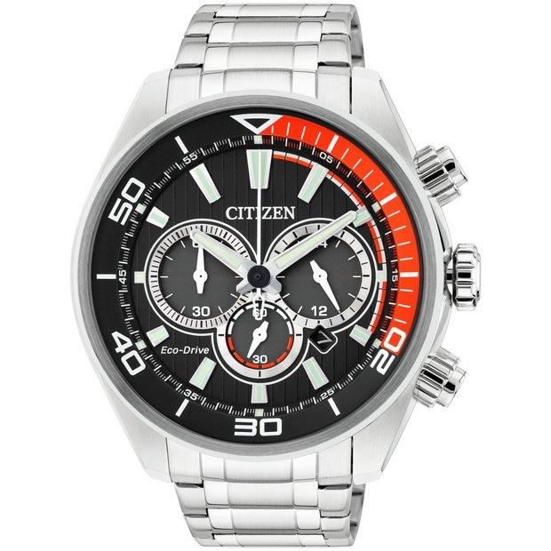 buy citizen men s watches at argos co uk your online shop for more details on citizen men s eco drive orange and black chronograph watch