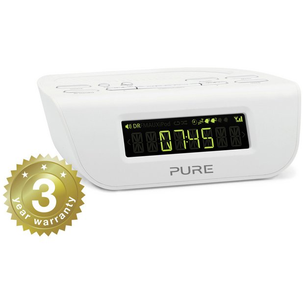 buy pure siesta mi series 2 dab fm alarm clock radio white at your online shop. Black Bedroom Furniture Sets. Home Design Ideas