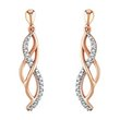 more details on TiaMia Sterling Silver 9ct Rose Gold Plated Diamond Earrings