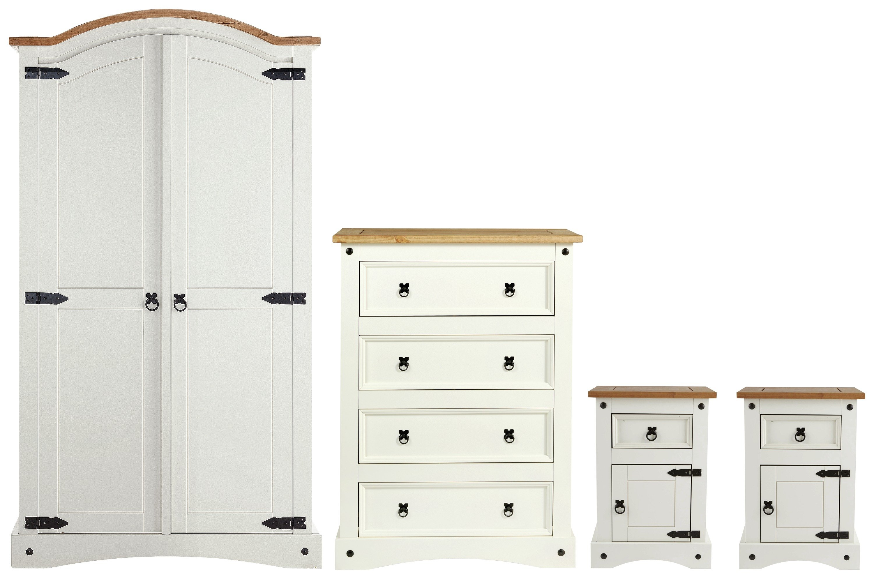 Buy Collection Puerto Rico 4 Piece Bedroom Package White Pine