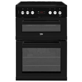 Beko KDC653K 60cm Double Oven Electric Cooker - Black Best Price, Cheapest Prices