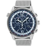 more details on Citizen Men's Eco-Drive Blue Dial Chronograph Watch.