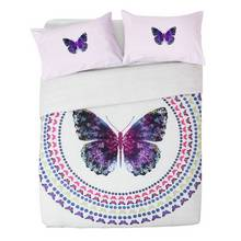 Collection Digital Butterfly Print Bedding Set - Double