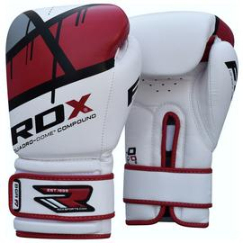 RDX Synthetic 12oz Leather Boxing Gloves - Red