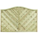 more details on Forest 1.8m Strasburg Fence Panel - Pack of 5.