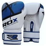 more details on RDX Synthetic Leather 16oz Boxing Gloves - Blue