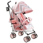 more details on My Babiie MB02 Pink Chevron Stroller.