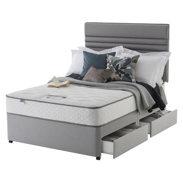 Buy Silentnight Levison 1000 Luxury Double 4 Drawer Divan At Your Online Shop For