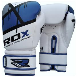RDX Synthetic 12oz Leather Boxing Gloves - Blue