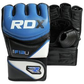 RDX Synthetic Leather MMA Gloves Blue - Large/Extra Large