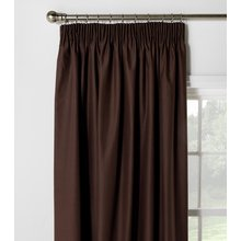 HOME Blackout Thermal Curtains - 117x137cm - Chocolate