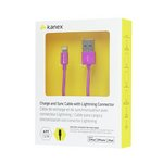 more details on Kanex 1.2m Lightning to USB Cable - Purple.