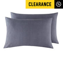 Argos Home Pair of Housewife Pillowcases - Dove Grey