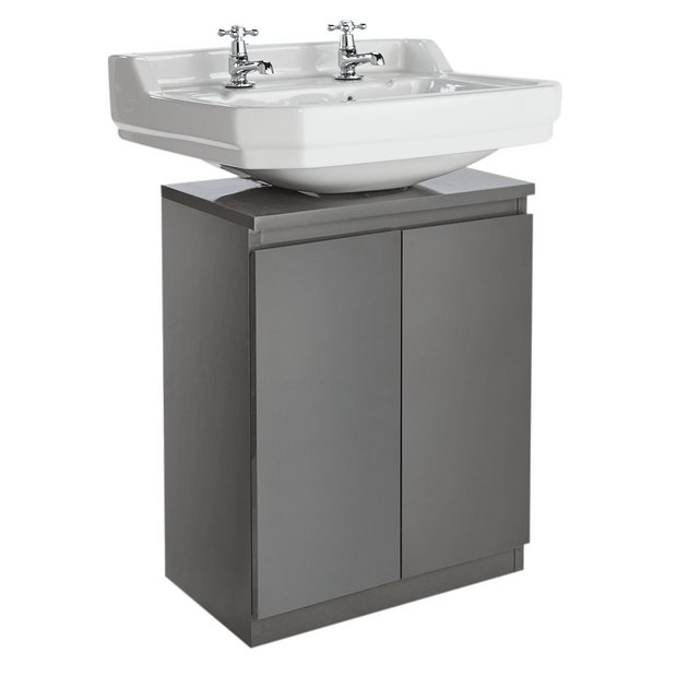 Prime Buy Argos Home Gloss Undersink Storage Grey Bathroom Shelves And Storage Units Argos Home Interior And Landscaping Ologienasavecom