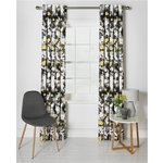 more details on Collection Daphne Lined Curtains - 168x183cm - Ochre/Grey.