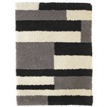 more details on Collection Noble Block Shaggy Rug - 120x160cm - Grey.