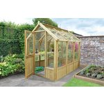 more details on Forest Wooden Vale Greenhouse 8 x 6 ft Includes Installation