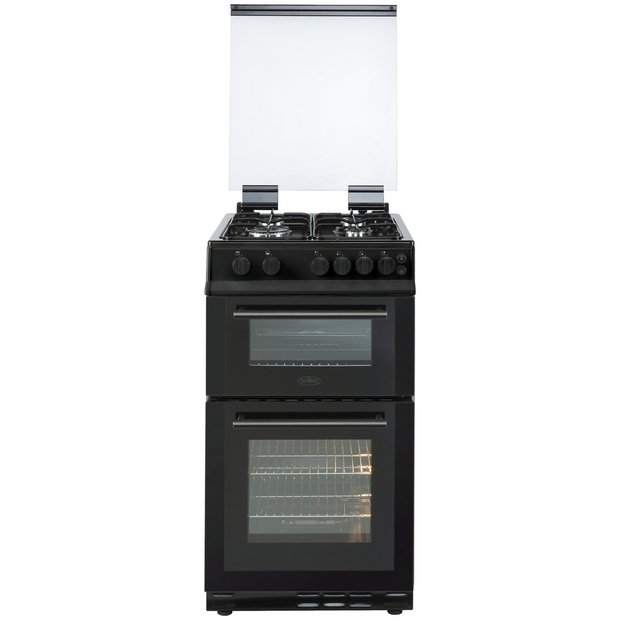 Buy Belling FS50GTCL 50cm Twin Cavity Gas Cooker - Black | Freestanding  cookers | Argos